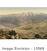 #13569 Picture Of Mount Hermon In Lebanon