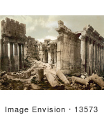 #13573 Picture Of The Temple Of Jupiter Facade In Baalbek