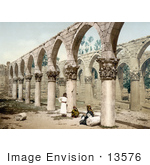 #13576 Picture Of The Arched Colunade In The Ancient Mosque Of Baalbek