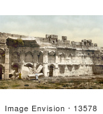 #13578 Picture Of The Square Chamber Of The Temple Of The Sun In Baalbek