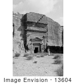 #13604 Picture Of A Tomb In Petra Jordan