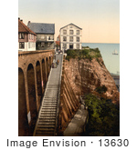 #13630 Picture Of People On The Staircase At Heligoland Germany