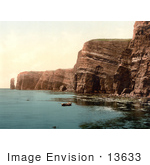 #13633 Picture Of The West Coast Of Helgoland Germany