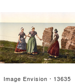 #13635 Picture Of Women Chatting Heligoland Germany