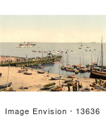 #13636 Picture Of Boats And Pier At Heligoland Germany