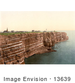 #13639 Picture Of The West Beach And Oberland Of Heligoland Germany