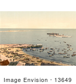 #13649 Picture Of Ships Sandbar And Pier Heligoland Germany