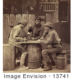 #13741 Picture Of Men Playing Euchre