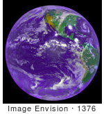 #1376 Photo Of The Americas And Hurricane Andrew