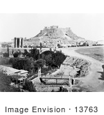#13763 Picture Of The Temple Of Jupiter Arch Of Hadrian And Ilissus River Baalbek