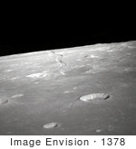 #1378 Photo Of The Lunar Limb Of Rima Ariadaeus On The Moon