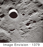 #1379 Photo Of Craters And Shadows On The Surface Of The Moon