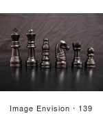 #139 Stock Image of Black Chess Pieces by Jamie Voetsch