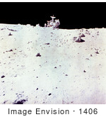 #1406 Photo Of Astronaut Charles Duke With Lunar Rover On Moon'S Surface