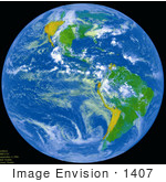 #1407 Photo of The Planet Earth Against the Black Background of Space by JVPD