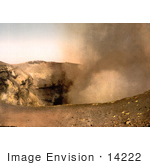 #14222 Picture Of Smoke Rising From The Crater Mount Vesuvius Italy