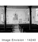 #14240 Picture of the St. Joseph's Roman Catholic Church Interior, Jacksonville, Oregon by JVPD