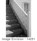 #14251 Picture Of The Stairs At The Presbyterian Church Jacksonville Oregon