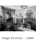 #14260 Picture of the Interior of the Jeremiah Nunan House, Jacksonville, Oregon by JVPD