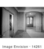 #14261 Picture Of The Empty Double Parlor Orth House Jacksonville Oregon