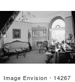 #14267 Picture Of The Parlor Interior Of The Jeremiah Nunan House Jacksonville Oregon