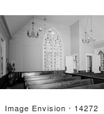 #14272 Picture Of The Interior Of The Presbyterian Church Jacksonville Oregon