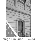 #14284 Picture Of The Window And Stair Railing Presbyterian Church Jacksonville Oregon