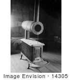 #14305 Picture Of An Old Stove