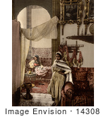 #14308 Picture Of Moorish Women Indoors Algeria