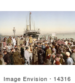 #14316 Picture Of People Disembarking A Ship Algiers Algeria