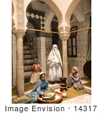 #14317 Picture Of Moorish Women Preparing Couscous Algeria