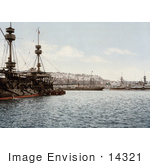 #14321 Picture Of Warships In The Harbor Algiers Algeria