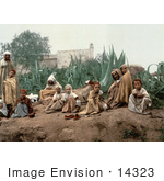 #14323 Picture Of Arabian People In A Garden