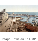 #14332 Picture Of The Harbor Of Algiers Algeria
