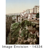 #14334 Picture Of Buildings On A Cliff Ravine Constantine Algeria