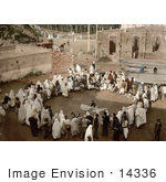 #14336 Picture Of A Group Of Spectators Circled Around An Arab Juggler Algeria