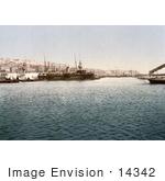 #14342 Picture Of Warships In The Harbor Of Algiers Algeria