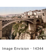 #14344 Picture of a Bridge, Constantine, Algeria by JVPD