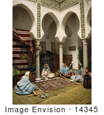 #14345 Picture Of Moorish Women Making Carpets Algeria