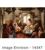 #14347 Picture Of Three Moorish Women Chatting Indoors