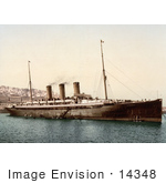 #14348 Picture Of Steamship Normannia Algiers