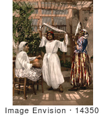 #14350 Picture of Dancing Girls in Algeria by JVPD