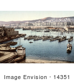 #14351 Picture Of Boats In The Harbor Algiers Algeria