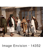 #14352 Picture Of Arab People Disputing On A Street Algeria