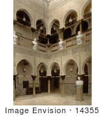 #14355 Picture Of Arcades And Statues On The Interior Of The Governor'S Palace Algiers Algeria