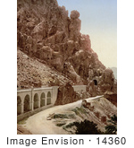 #14360 Picture Of A Road Through A Ravine El Cantara Algeria
