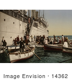 #14362 Picture Of Passengers Boarding Off Of A Ship Algeria