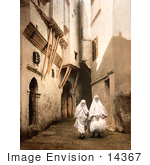 #14367 Picture Of Algerians In White Cloth Algiers Algeria