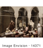 #14371 Picture Of Women And Children At An Embroidery School Algeria