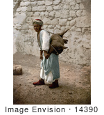 #14390 Picture of a Man Carrying an Animal Carcass on His Back, Jerusalem by JVPD